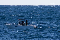 Fisherman in a tinny @ Perth Canyon